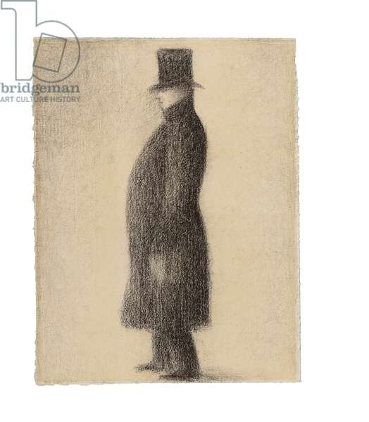 The top hat, c.1883 (conte crayon on paper)