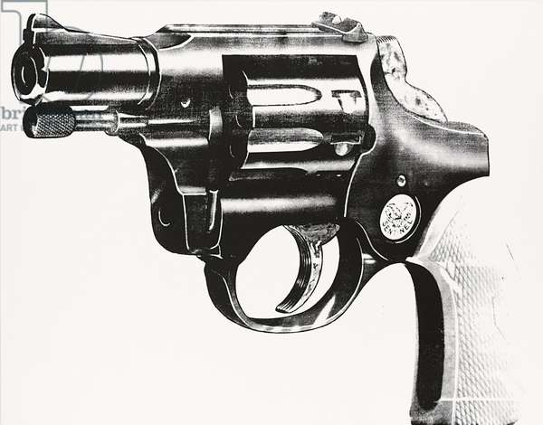 Gun, 1981-1982 (synthetic polymer and silkscreen ink on canvas)