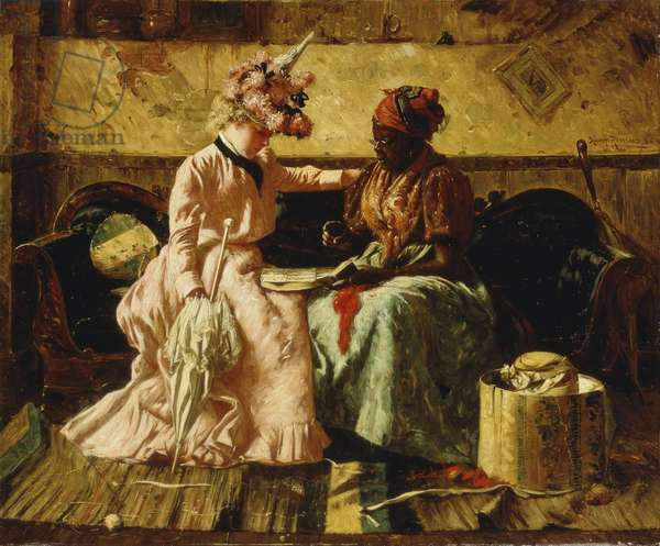 Reading the Cards, 1899 (oil on canvas laid down on masonite)