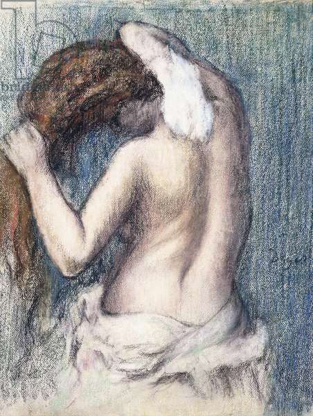 Woman Drying Herself, c.1906 (pastel on paper mounted at the edges on board)