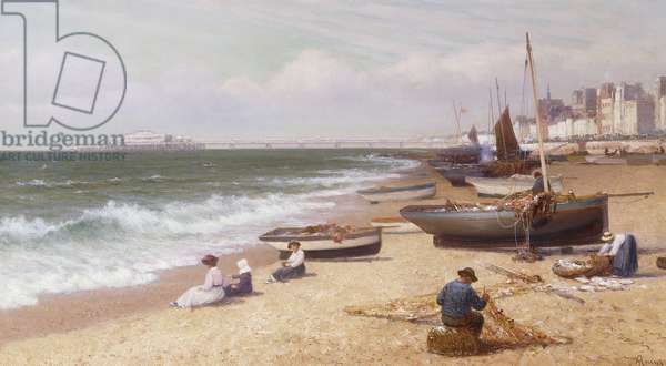 Brighton Beach,  (oil on canvas)