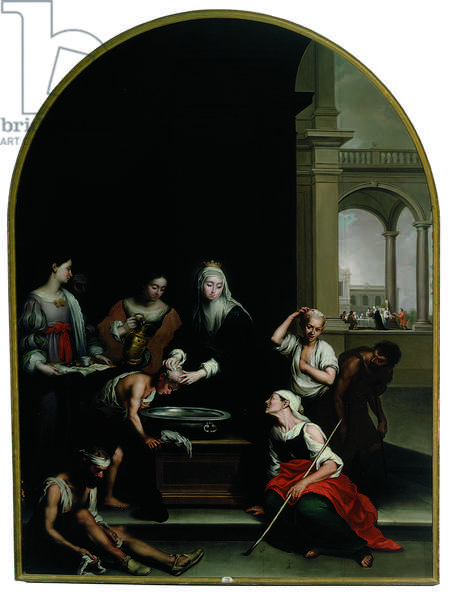 The Charity of Saint Isabel of Hungary, after Murillo (oil on canvas)