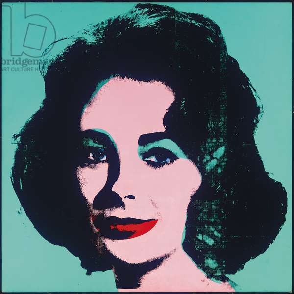 Liz, 1963 (synthetic polymer, silkscreen inks & acrylic on linen)