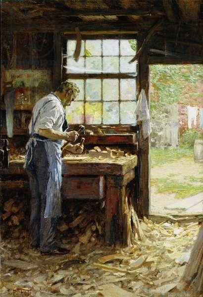 Village Carpenter, 1899 (oil on canvas)
