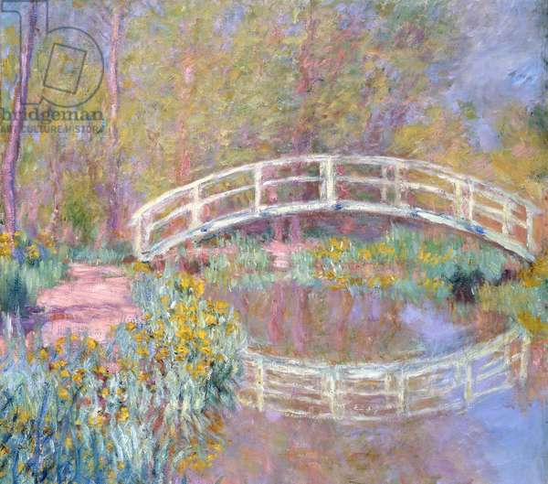 Bridge in Monet's Garden, 1895-96 (oil on canvas)