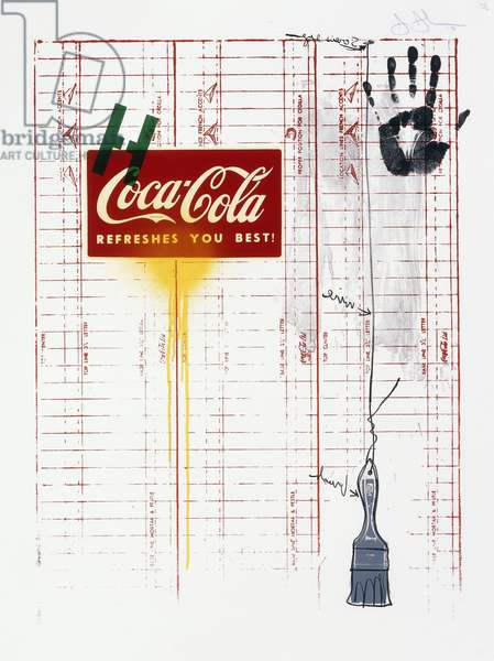 Untitled (Coca-Cola and Grid), 1971 (lithograph in colours on Arches paper)