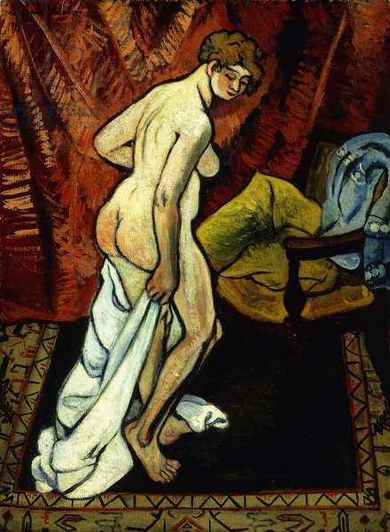 Standing Nude with Towel; Nu Debout Sa Drapant, 1919 (oil on canvas)