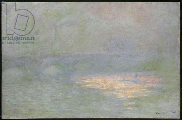 Waterloo Bridge (oil on canvas)
