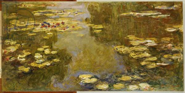 The Lily Pond (oil on canvas)