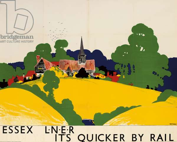 'Essex: It's Quicker by Rail', a LNER advertising poster, 1933 (colour lithograph)