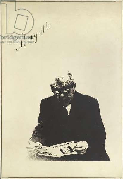 Un Tableau Magritte, 1967 (photographic transfer on canvas)