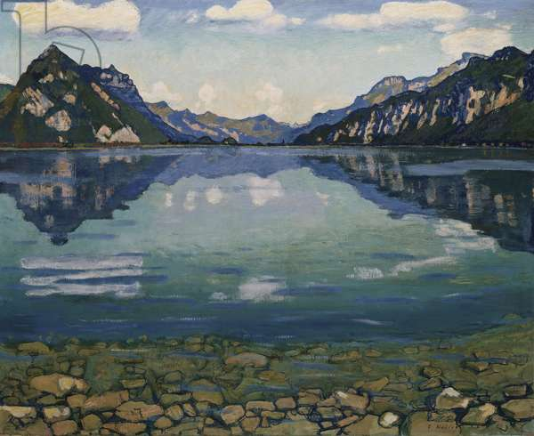 Thunersee with Reflection, 1904 (oil on canvas)