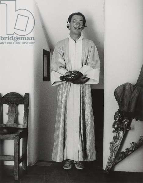Salvador Dali, 1955 (gelatin silver print)