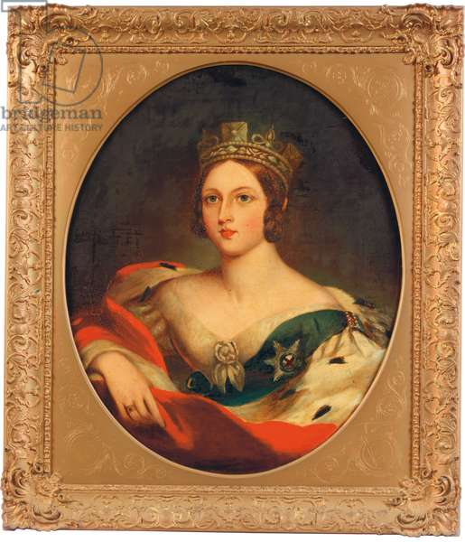Portrait of Queen Victoria (oil on canvas)
