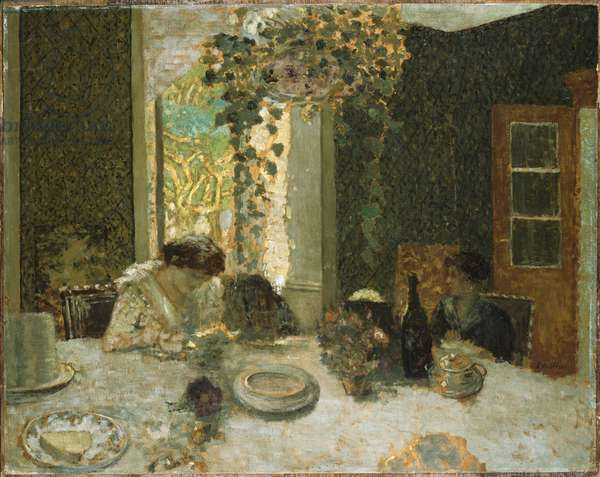 The Dining Room, c.1900 (oil on board laid down on panel)