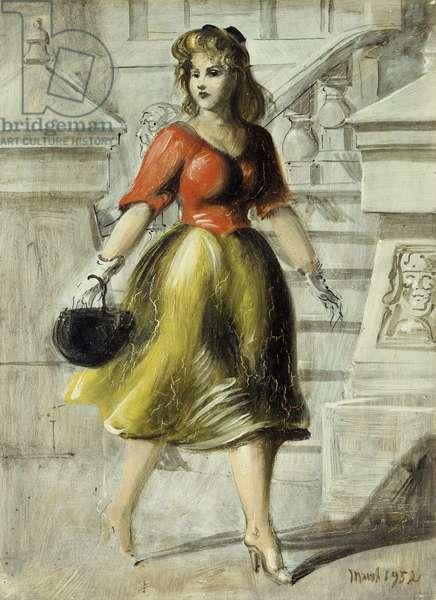Out for a Stroll, 1952 (oil on masonite)