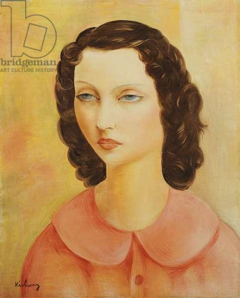 Portrait of a Young Girl; Portrait de Jeune Fille; Moise Kisling (1891-1953), 1873-74 (oil on canvas)