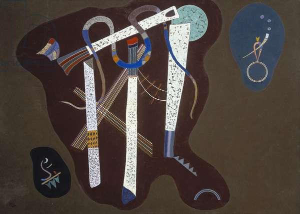 Three Pillars; Drei Saulen, 1943 (oil on board)