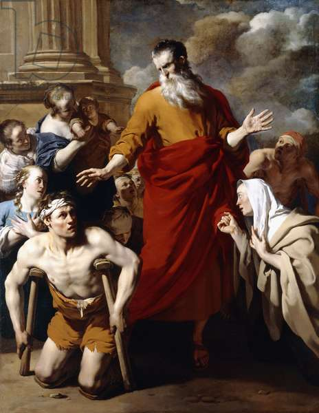 Saint Paul Healing the Sick at Lystra,  (oil on canvas)