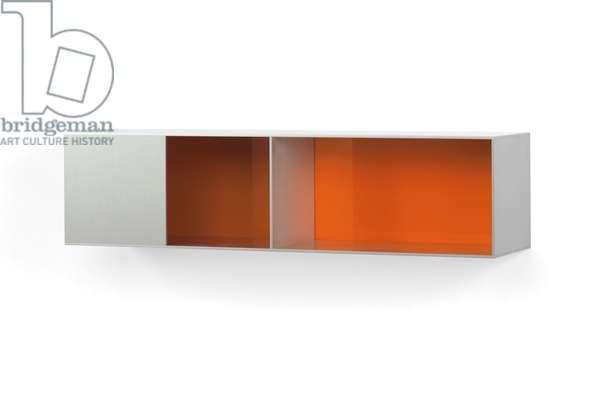 Untitled (87-49 Menziken), 1987 (aluminum and orange Plexiglass)