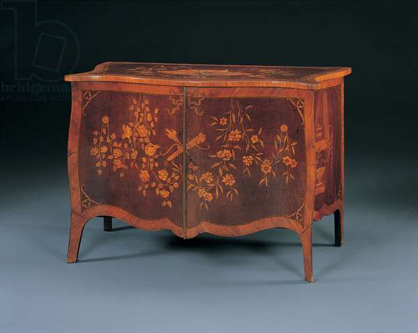 George III marquetry commode in the manner of John Cobb, c.1770 (amaranth & tulipwood)