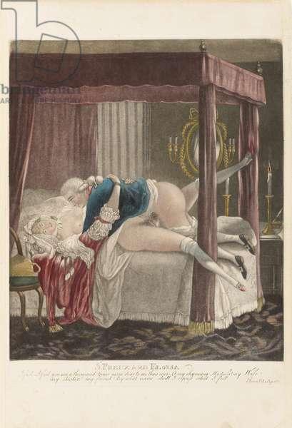 St. Preux and Eloisa, c. 1790 (hand-coloured mezzotint)