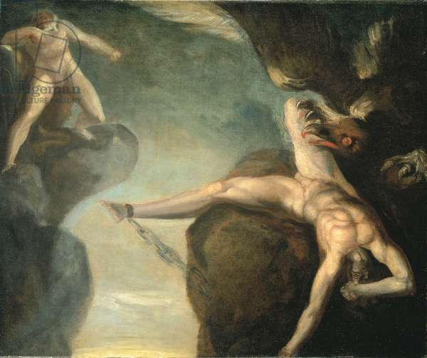 Prometheus Freed by Hercules, 1781-1785 (oil on canvas)