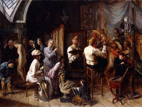 The Artist's Studio,  (oil on canvas)