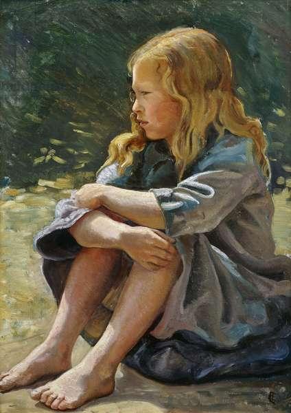 Little Sunshine, (oil on canvasboard)