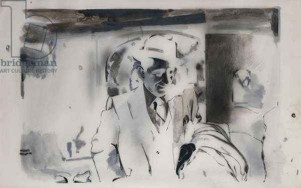 I'm Dreaming of a White Christmas, 1967 (black ink, watercolour and graphite on paper and two plastic films)