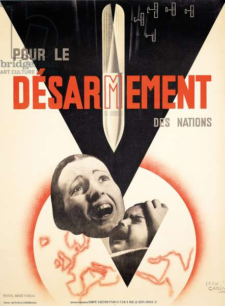 Poster for the French disarmament campaign, 1932 (colour lithograph)