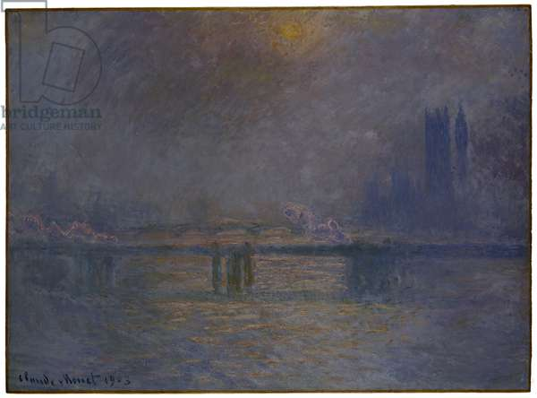 Charing Cross Bridge, The Thames, 1900-03 (oil on canvas)