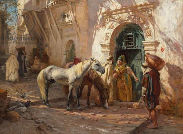A Scene in Morocco; Scene prise au Maroc, 1885 (oil on canvas)