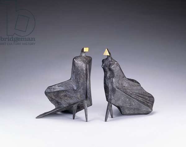 Walking Cloaked Figures III, 1978 (bronze)