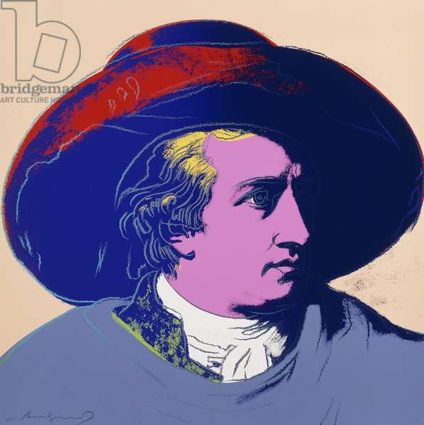 Goethe: One Plate, 1982 (screenpint in colours on lenox museum board)