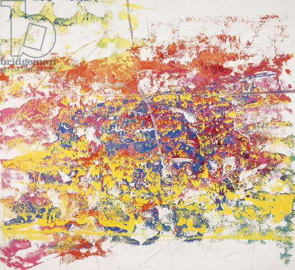 Untitled, 1986 (oil on paper laid on canvas)
