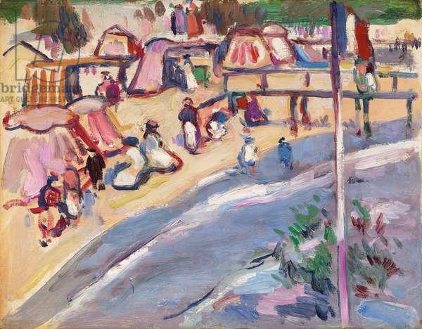 St. Palais,  (oil on panel)