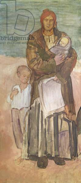 Peasant Woman with a boy and a baby