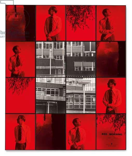 Red Morning (Hate), 1977 (hand coloured gelatin silver prints)