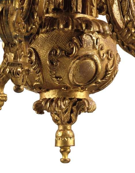 George I twelve-light chandelier, c.1719 (gilt-gesso)