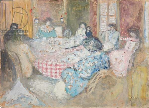 The Checkered Tablecloth; La nappe a carreaux, 1910 (oil on board)