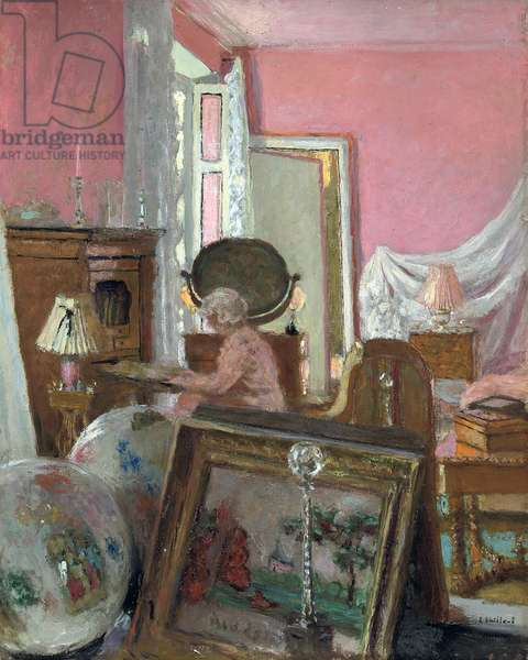 Madam Hessel in her Room at the Chateau des Clayes; Madame Hessel dans sa chambre au Chateau des Clayes, c.1930-1935 (oil on panel)
