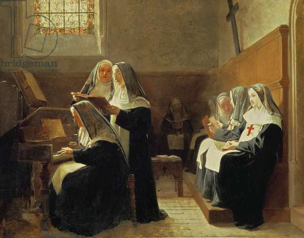 The Convent Choir, 1865 (oil on panel)