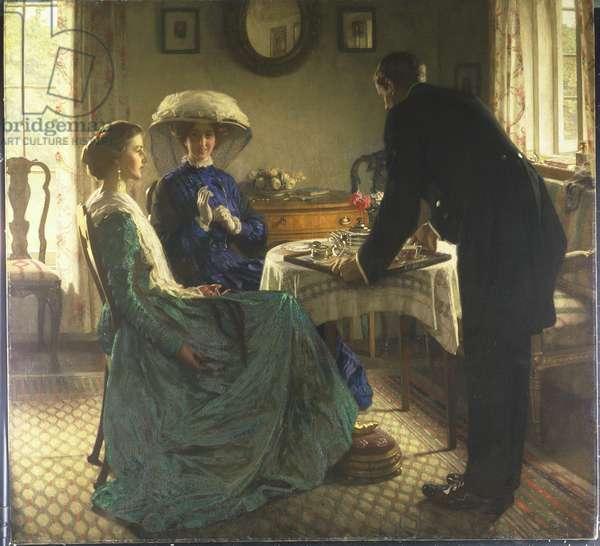 Afternoon Tea (oil on canvas)