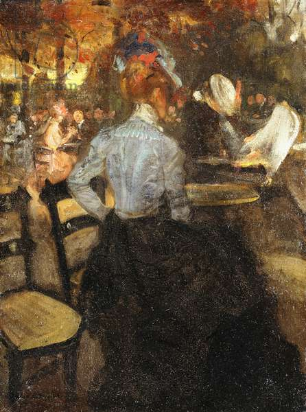 The Cafe, c.1900 (oil on canvas)