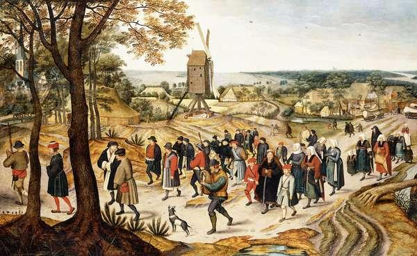 A Wedding Procession,  (oil on canvas)
