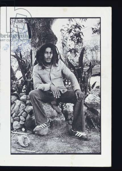 Bob Marley, c.1976 (b/w photo)