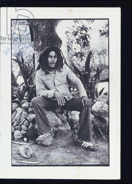 Bob Marley, c.1976 (b/w photo)