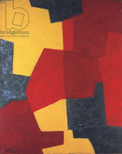 Abstract composition, 1964-66 (oil & tempera on canvas)