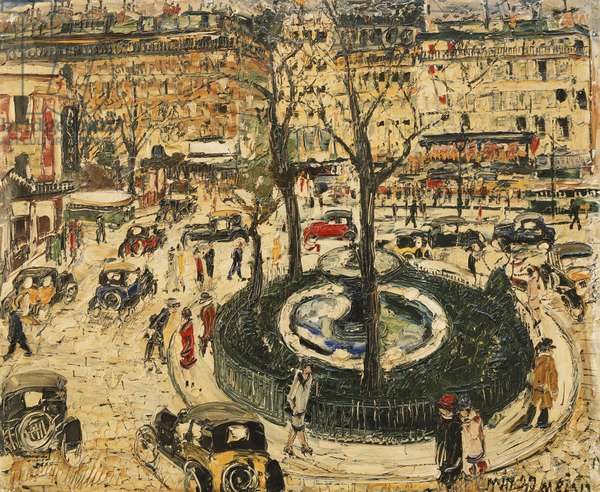 View of Paris; Vue de Paris, (oil on canvas)